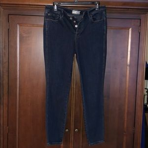 Free People button fly jeans